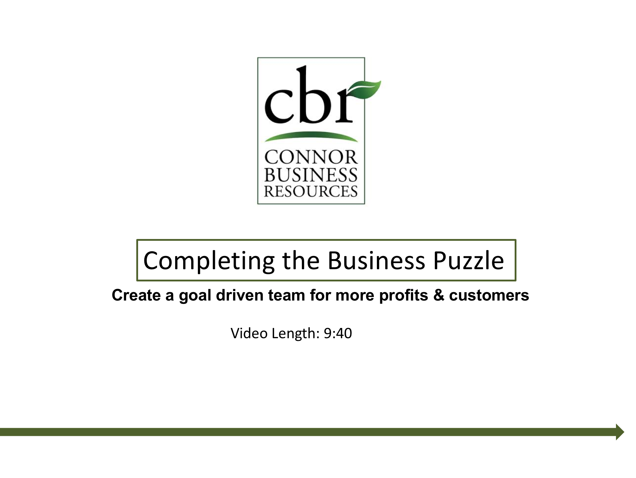 Completing the Business Puzzle