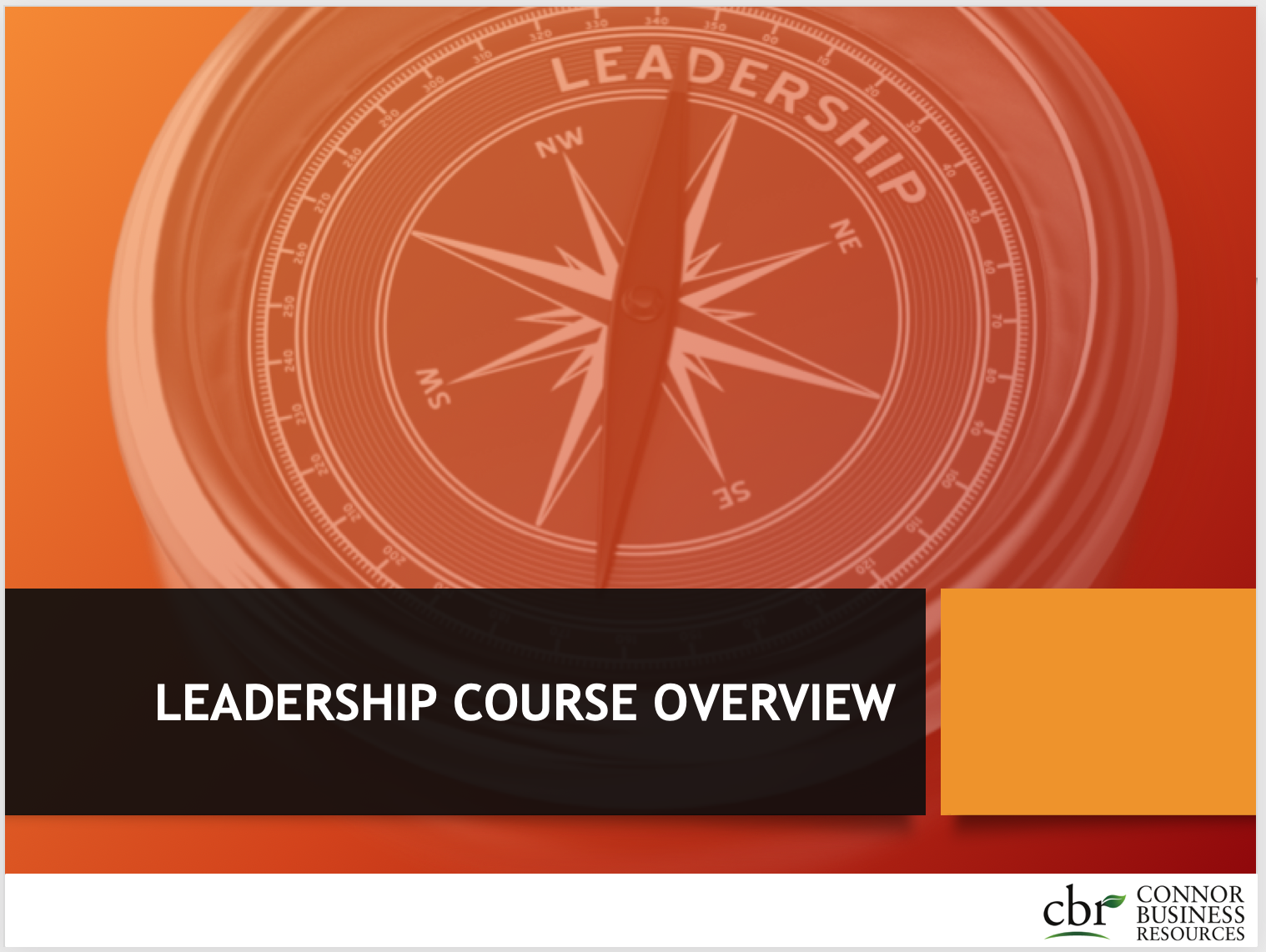 Leadership  Course Overview